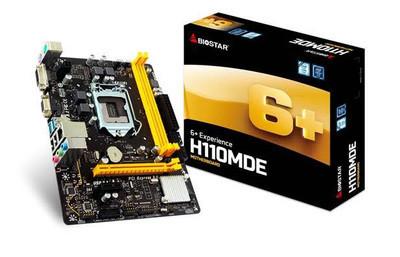 BIOSTAR представила доступную плату H110MDE M-ATX класса