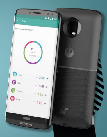 Некоторые подробности о смартфонах Moto Z3 и Z3 Play