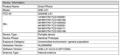 Опубликованы характеристики смартфона Huawei P20 Lite