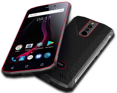 Sigma mobile X-treme PQ51 - защищенный смартфон  со сканером отпечатков пальцев