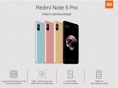 Все подробности о смартфонах Xiaomi Redmi Note 5 Pro и Redmi Note 5
