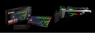 MSI представляет игровые клавиатуры Vigor GK80 и GK70