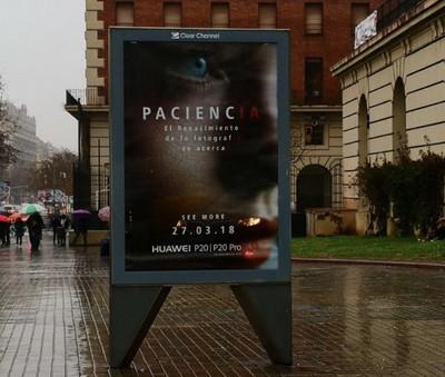 Huawei P20 и P20 Pro появились на билбордах