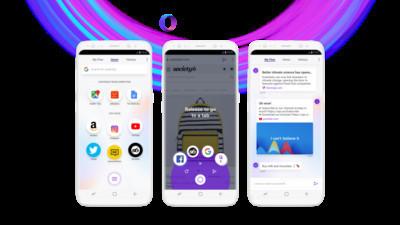 Opera выпускает новый мобильный браузер Opera Touch