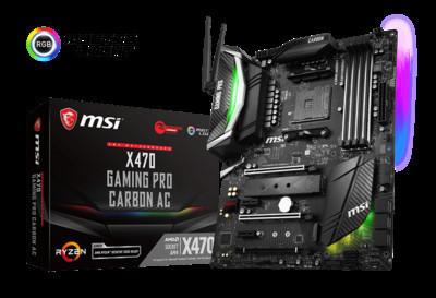 MSI представляет серию материнских плат X470 Gaming для новых процессоров AMD