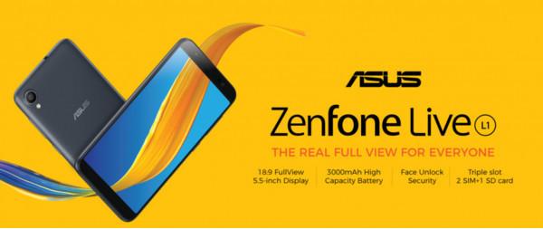 Состоялся официальный анонс смартфона ASUS Zenfone Live L1