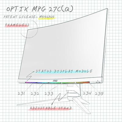 MSI получила патент на изогнутый игровой монитор
