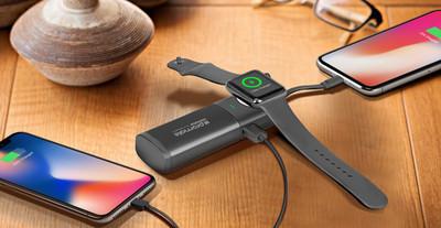 Promate AuraWatch: ультракомпактный повербанк для Apple Watch и iPhone