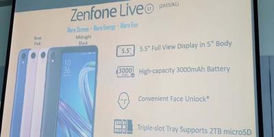 ASUS Zenfone Live L1 – недорогой смартфон с Android Go и батареей на 3000 мАч