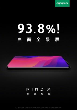 Oppo Find X получит экран, который будет занимать 94% передней панели