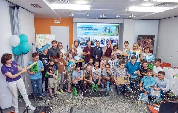 В Украине завершился первый чемпионат по образовательной версии Minecraft