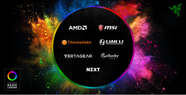 Система подсветки Razer Chroma доступна для сторонних производителей