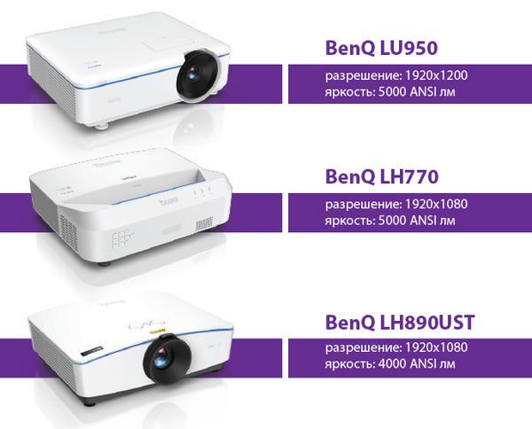 Три новые серии лазерных проекторов BenQ для бизнеса