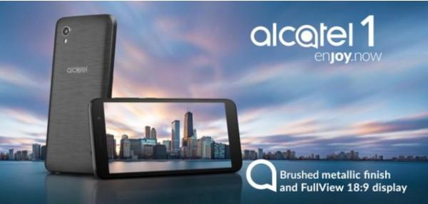 Безрамочный смартфон Alcatel 1 стоит менее 80 евро