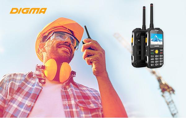 DIGMA выпускает телефон-рацию LINX A230WT 2G с долгоиграющей батареей