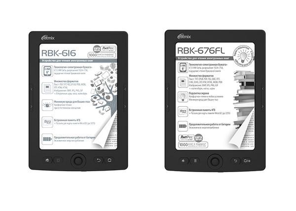 RBK-616 и RBK-676FL - новые электронные книги от Ritmix