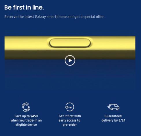 Samsung начала принимать предзаказы на Note9