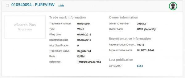 HMD Global получила права на ТМ PureView