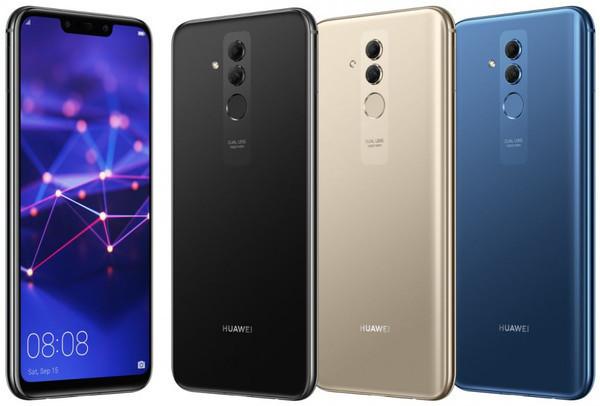 Huawei Mate 20 Lite – рендерное фото в разных цветовых решениях
