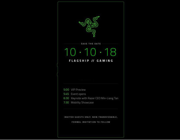 Razer Phone 2 будет представлен 10 октября – известны характеристики
