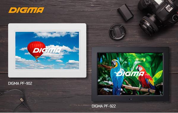 Цифровые фоторамки DIGMA PF-902 и PF-922