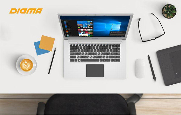 DIGMA EVE 604 - компактный ноутбук с IPS-экраном и Intel Atom