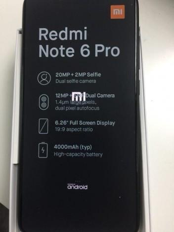 Смартфон Xiaomi Redmi Note 6 Pro – дизайн и возможности