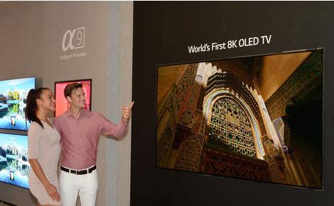 LG представит первый в мире OLED-телевизор 8К
