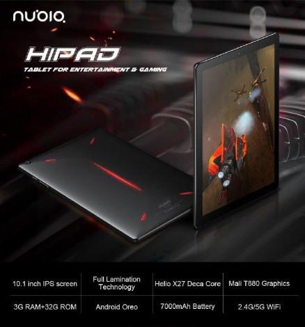 Первая информация об игровом планшете ZTE Nubia Hipad