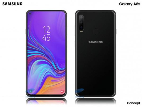 Смартфон Samsung Galaxy A8s – некоторые подробности о дисплее
