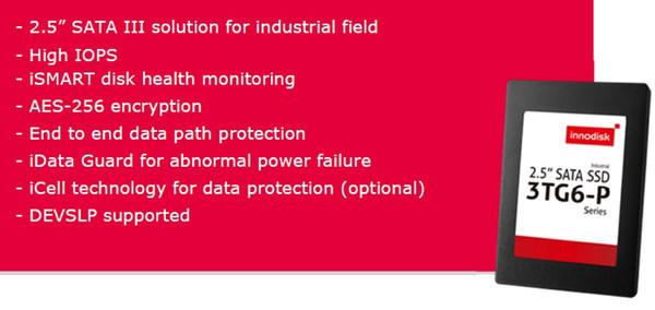 Innodisk представила промышленные SSD 3TG6-P – возможность работать при минус 40