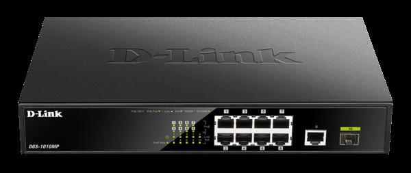 D-Link анонсировала гигабитный PoE-коммутатор DGS-1010MP