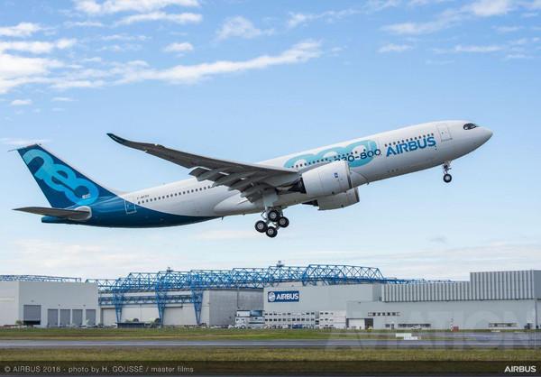 A330-800 совершил свой первый полет
