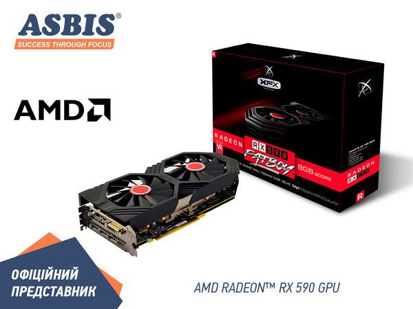 Асбис сообщает о начале продаж видеокарт Radeon RX 590 Fatboy