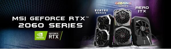 MSI представляет оригинальные видеокарты на базе GeForce RTX 2060
