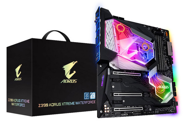 Новая материнская плата GIGABYTE Z390 AORUS XTREME WATERFORCE