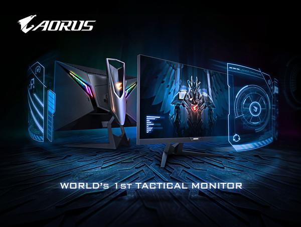 GIGABYTE представила первый в мире тактический игровой монитор AORUS AD27QD