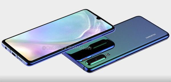 Huawei P30 – первые рендерные фото нового флагмана