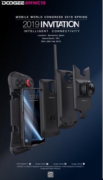 DOOGEE на MWC 2019 выпустит модульный смартфон S90 и новинки Y-cерии