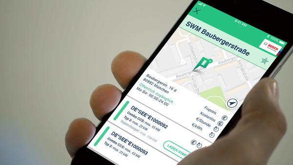 Bosch предлагает решение для быстрого поиска зарядных станций для электромобилей