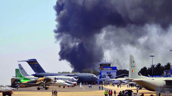 AERO INDIA-2019:  пожар на международном авиасалоне