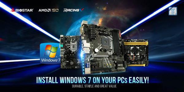 BIOSTAR анонсировала поддержку Windows 7 на платформах AMD и Intel