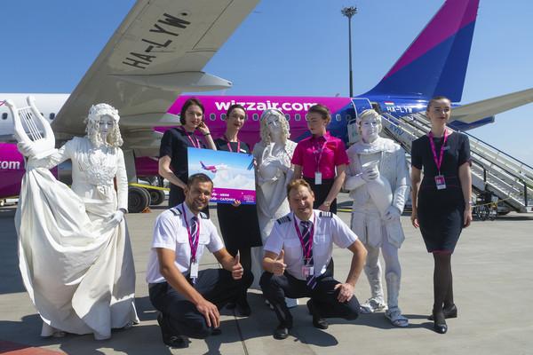 Wizz Air выполнила свои первые рейсы из аэропорта