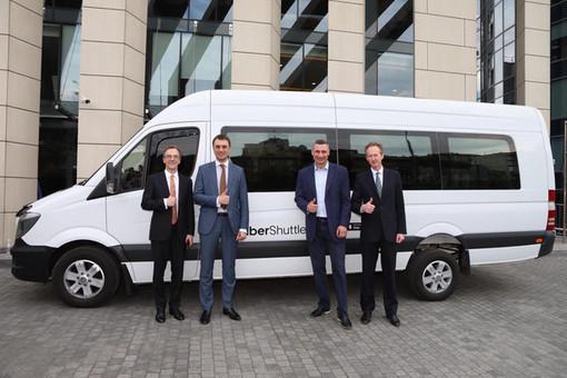 Uber запускает первый европейский пилотный сервис UberShuttle в Киеве