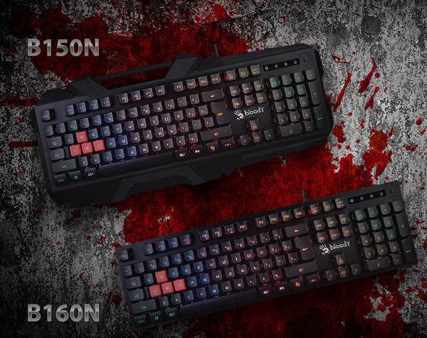 Игровые клавиатуры BLOODY B150N и B160N