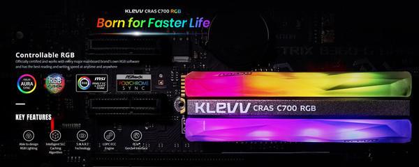 Накопитель KLEVV CRAS C700 RGB NVMe M.2 SSD