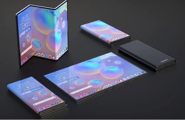Samsung получила патент на смартфон с дисплеем Z-образной формы