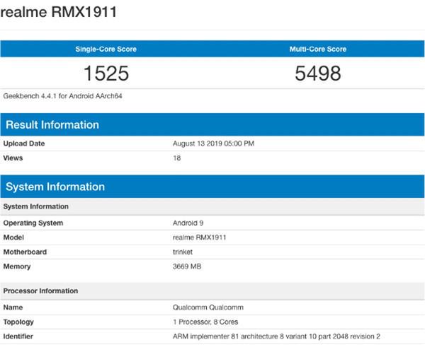 Подробности о смартфоне Realme 5