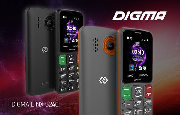 Новый мобельный телефон DIGMA LINX S240