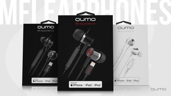 Серия проводных MFI наушников Qumo Accord Mini